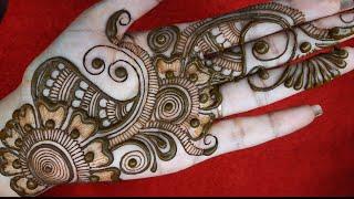 Stylish Full Gulf Arebic Mehndi Design||Simple Mehndi Design||Easy Mehndi Design For Front Hand
