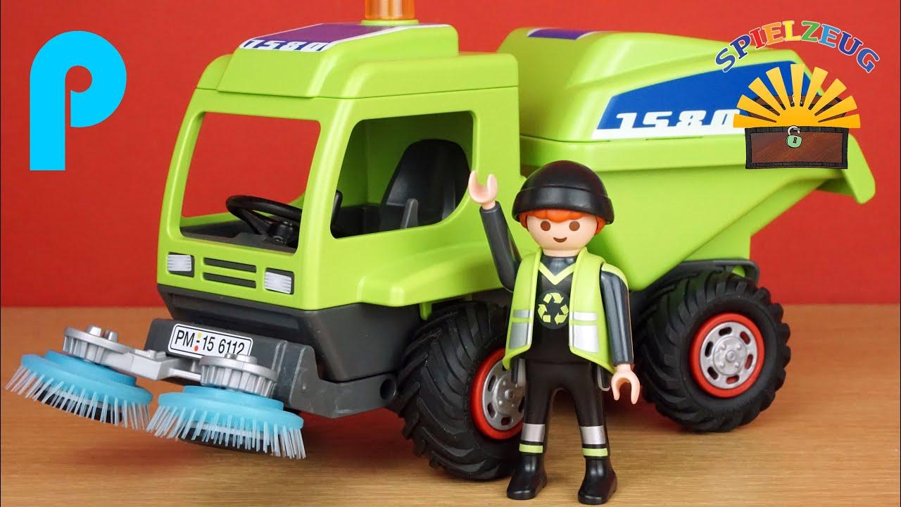 city kehrmaschine 6112 - playmobil city action - straßenreinigung