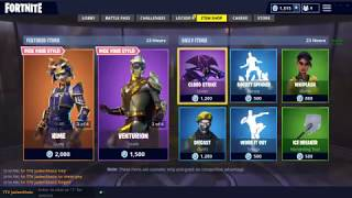 Fortnite item shop 9/25/18 RARE *HIME* SKIN