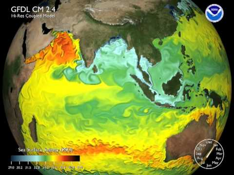 Sea Surface Salinity Simulation (Indian Ocean)