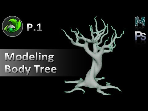 Game Artist | Modeling Body Tree - P01 with Autodesk Maya 2017 | Game Design
