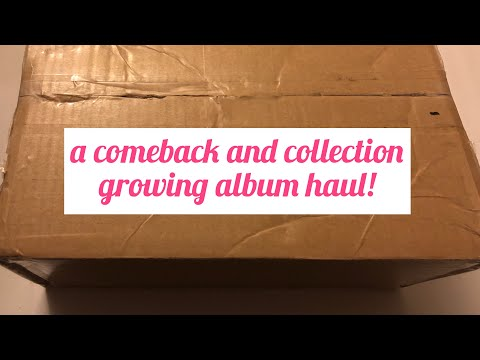 a comeback + collection growing kpop album haul & unboxing! ✨