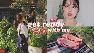 2018 GRWM#10💐 피크닉 가기 전 같이 준비해요! (루나 신상파데 리뷰, 🎂) | WOORIN