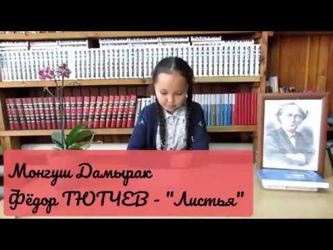 Изображение предпросмотра прочтения – ДамыракМонгуш читает произведение «Листья (Пусть сосны иели…)» Ф.И.Тютчева
