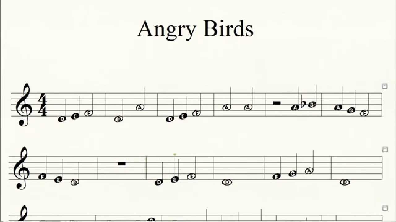 Piano Angry Birds Theme How To Play