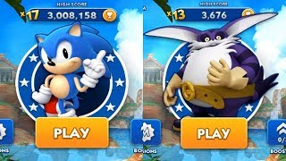 Gambar cover Sonic Dash Android Gameplay - CLASSIC SONIC VS BIG #1