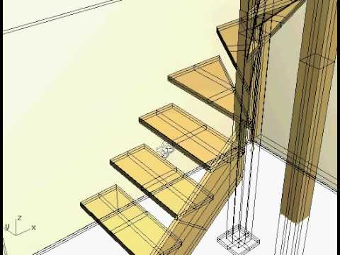 Escalera de madera helicoidal con eje central parte 3 doovi - Fabricar escalera de madera ...