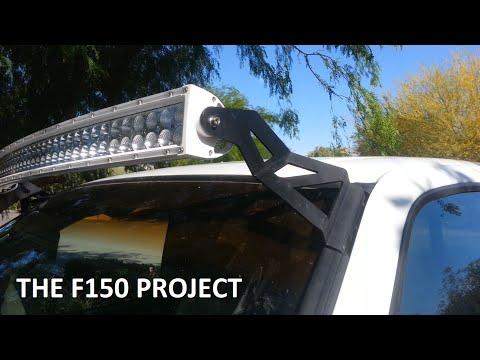 "For 1997-03 Ford F-150//F150 Mount kit 288W 50/"" Curved LED Light Bar wiring Kit"