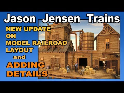 New update on my model railroad layout and adding details.