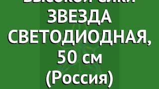 Макушка для высокой елки ЗВЕЗДА СВЕТОДИОДНАЯ, 50 см (Россия) обзор МЗ-LED-50 производитель Россия
