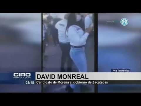 """""""Fue roce involuntario"""", afirma David Monreal tras ser captado tocando indebidamente a candidata"""
