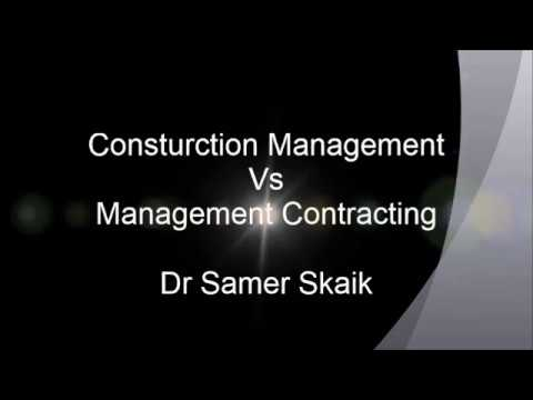 Construction Management Vs Management Contracting procurement