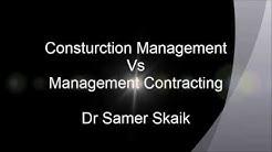 Construction Management Vs Management Contracting procurement