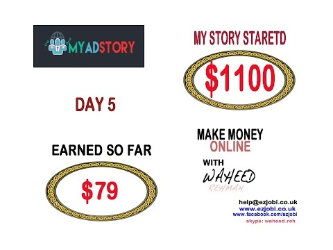 MyAdStory Day 5 , Purchased $1100 add packs earned $79.33