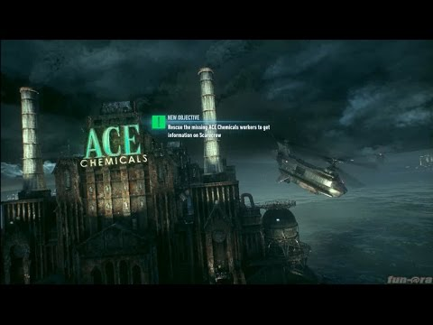 Batman: Arkham Knight - Rescue the missing ACE Chemicals workers to get information on Scarecrow