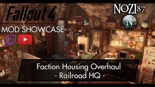 Fallout 4 Mod Showcase Faction Housing Overhaul - Railroad HQ by Elianora