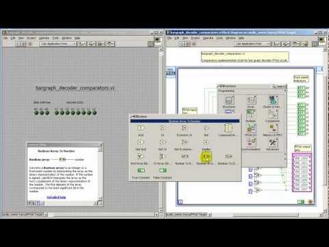 LabVIEW FPGA: Bar graph decoder -- comparator array