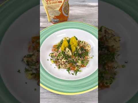 Cómo hacer un tabule de quinua y pollo a las finas hierbas