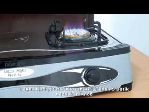 Blue gaz cara menggunakan kompor set korina xentro next for Kitchen set kompor tanam