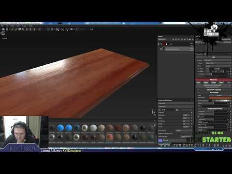 Texturing an office desk in Substance Painter