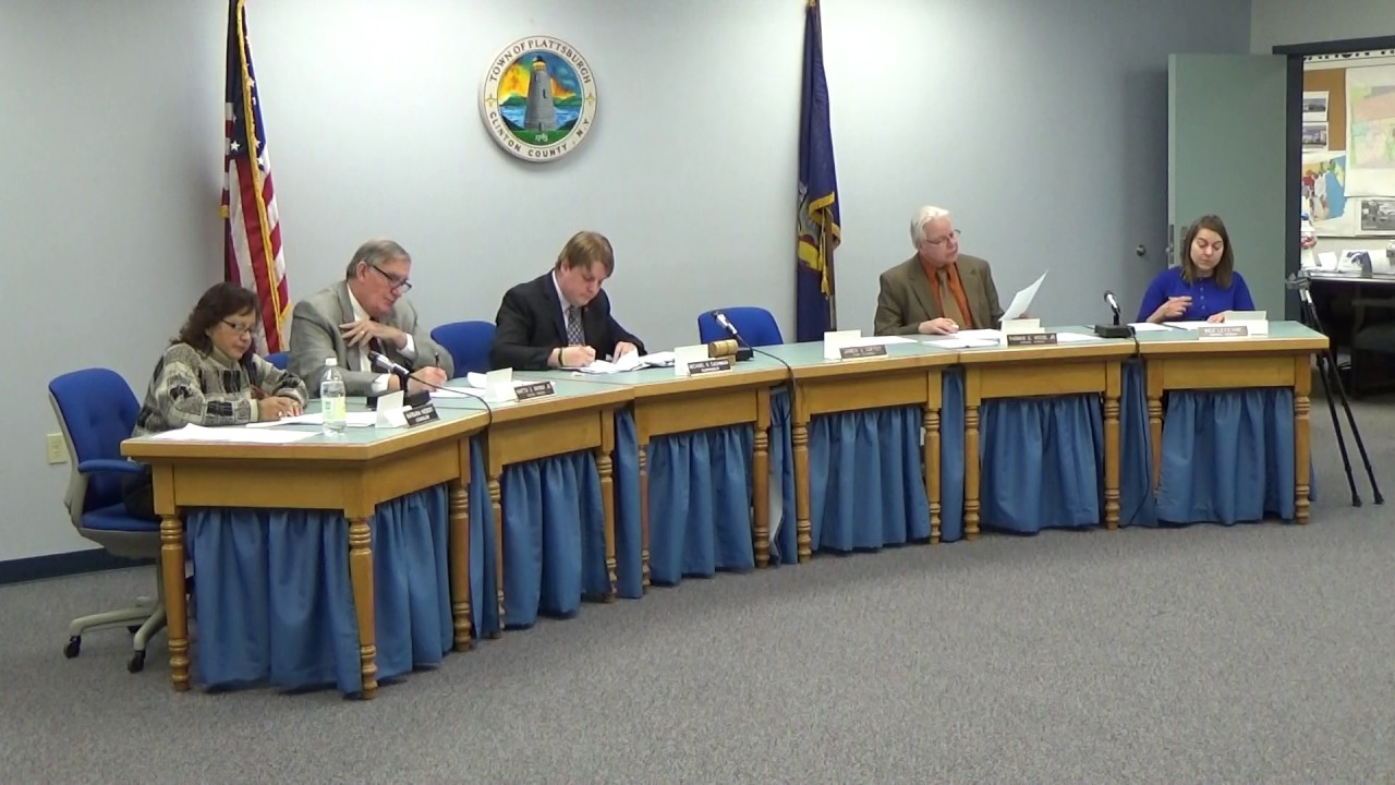 Town Of Plattsburgh Meeting  1-5-17
