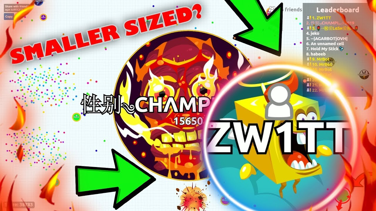 SMALLER SIZED POPSPLIT GONE WILD IN AGARIO! // ENCREDIBLE GAMEPLAY OF  Agar io