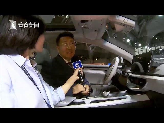 视频|2019上海车展丨记者体验吉利首款纯电动车几何A