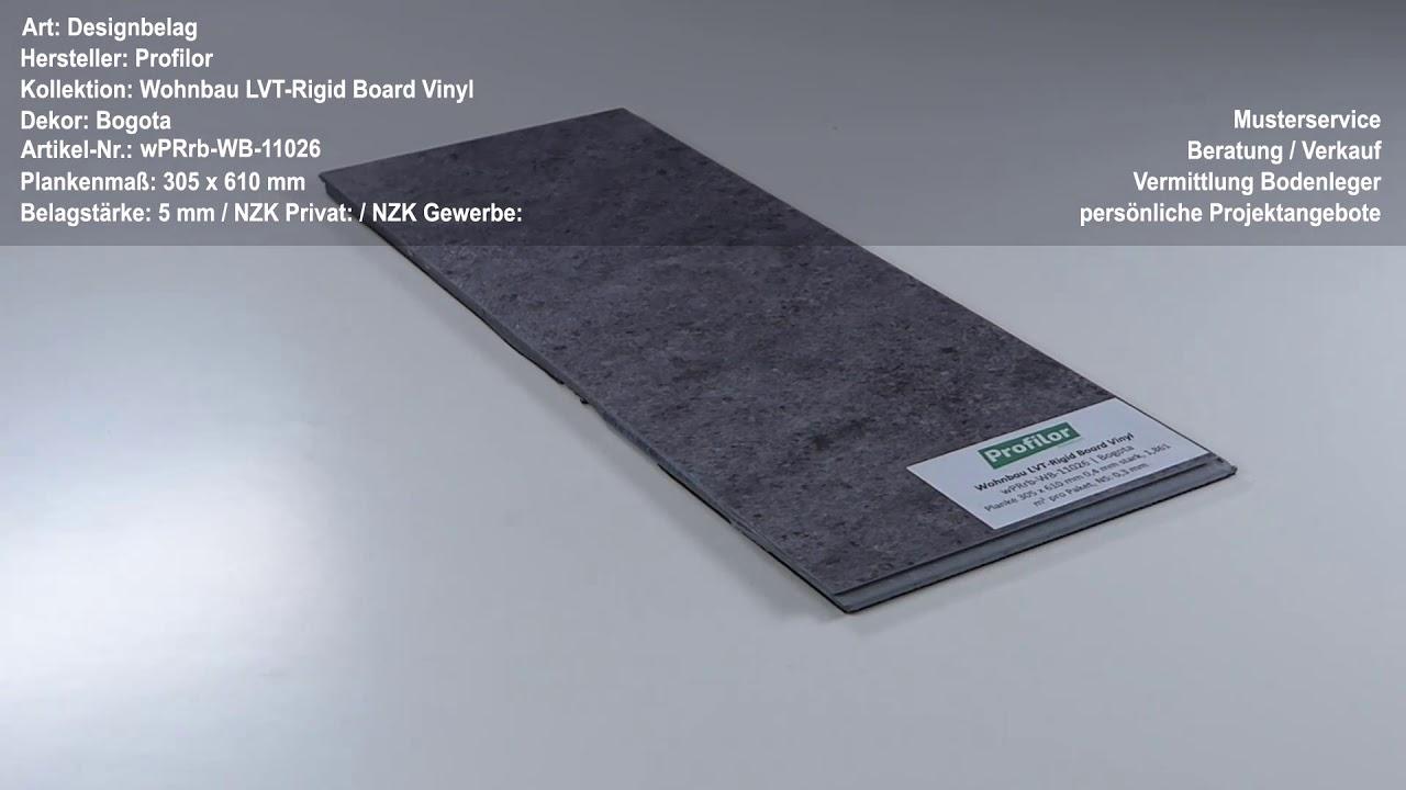profilor wohnbau lvt rigid board vinyl bogota klick vinyl. Black Bedroom Furniture Sets. Home Design Ideas