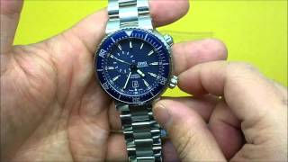 Oris TT1 1000M Automatic Diver Blue Stainless Steel Review
