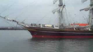 Ankunft der Koggen zur Hanse Sail 2008