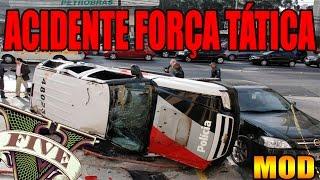 GTA V PC MOD POLÍCIA MILITAR BLAZER DA FORÇA TÁTICA ABORDAGENS E ACIDENTE 1080P60 CARROS