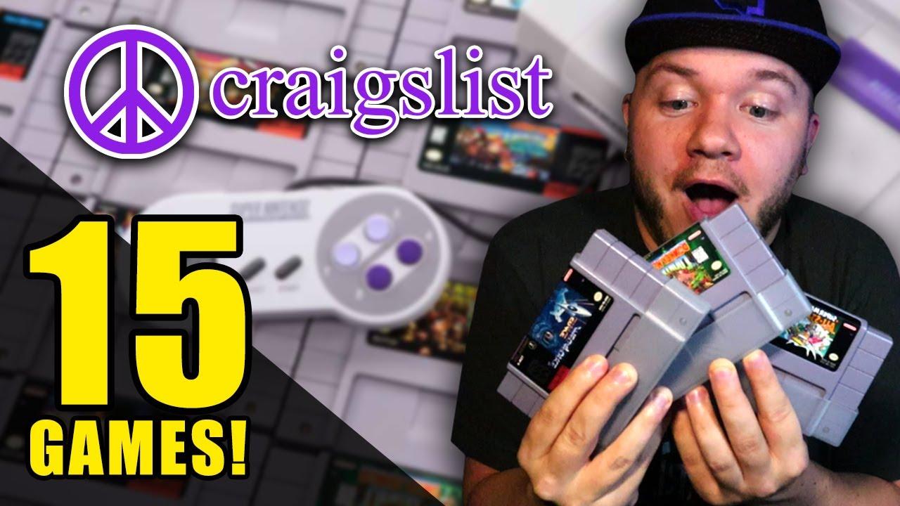 I Bought 15 Super Nintendo SNES Games on Craigslist! - YouTube