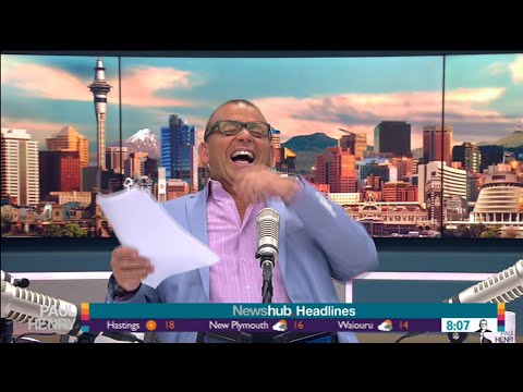 Paul Henry can't stop laughing at his show feedback