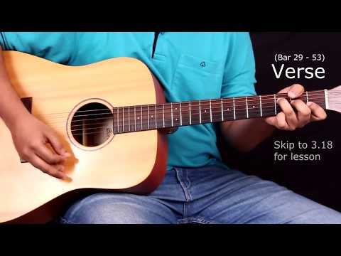 Raabta Title Song Guitar Chords With Strumming Pattern Lesson