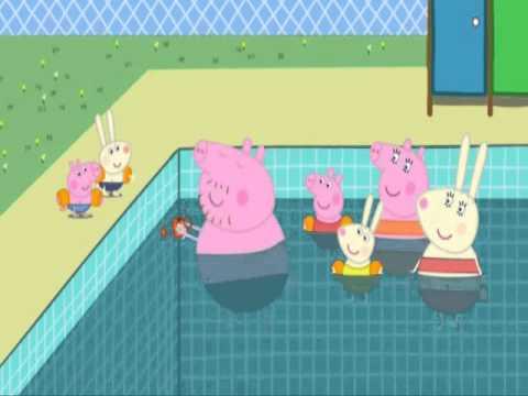 peppa pig swimming pool youtube
