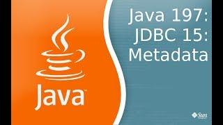 Урок Java 197: JDBC 15: Metadata