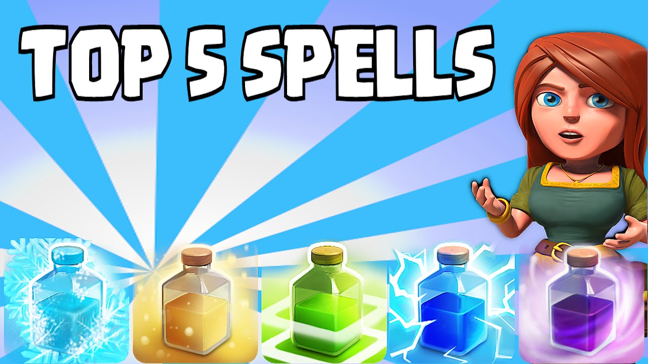 Clash of clans - Top 5 Spells (Ranking from Worst to Best) - YouTube