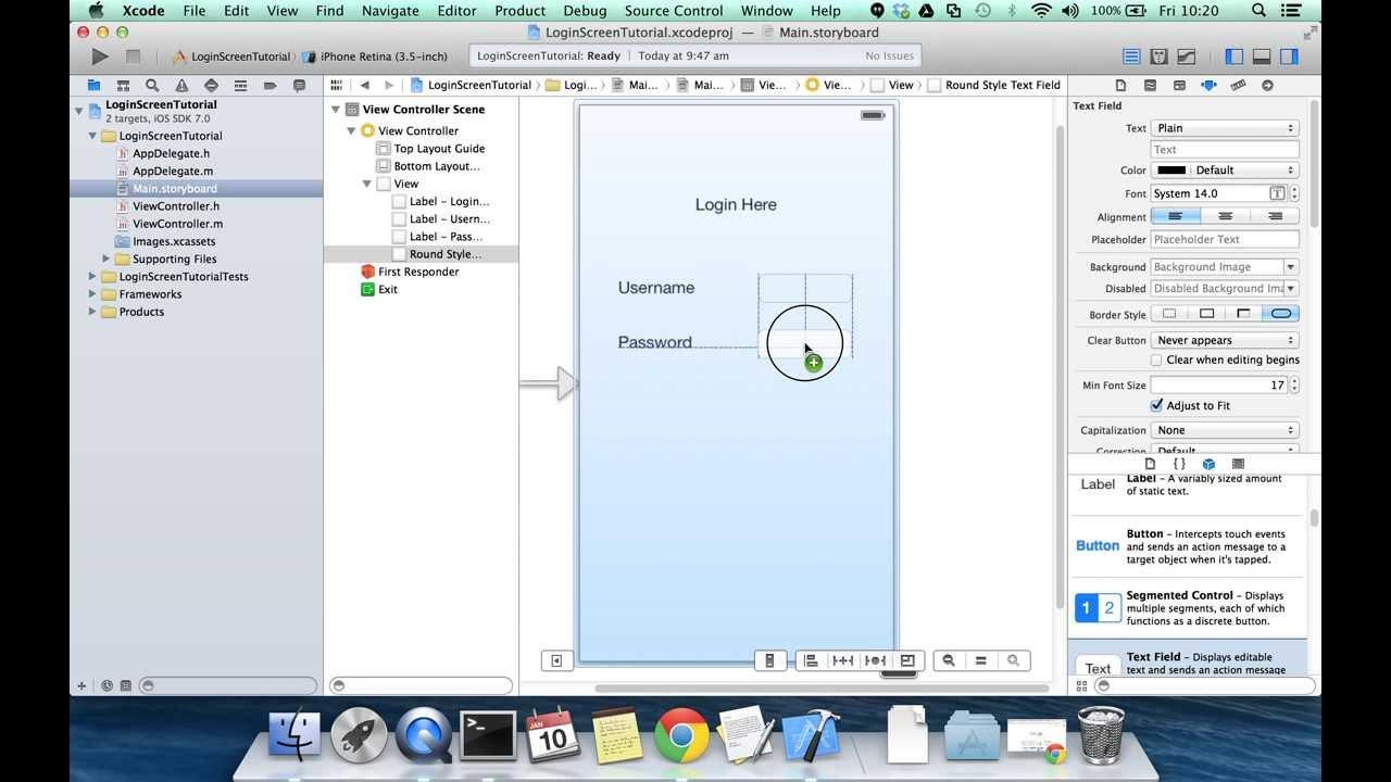 iOS Login Screen Tutorial Xcode 5 iOS 7 JSON