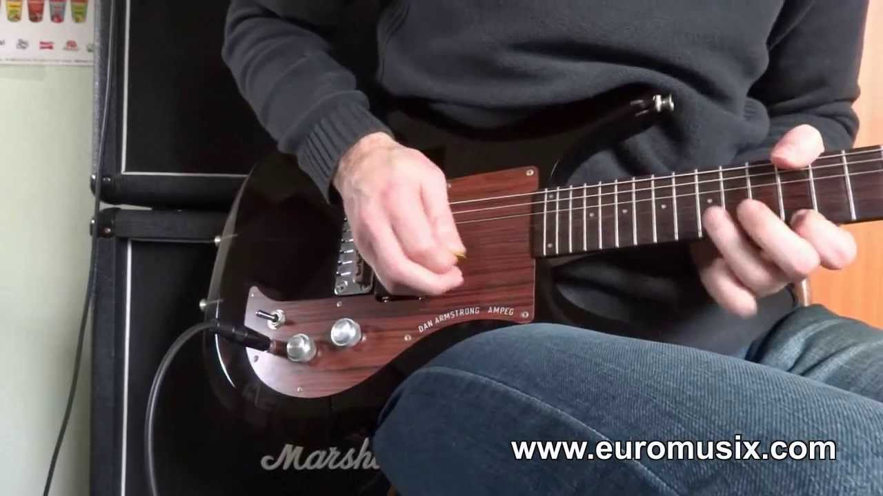 medium resolution of ampeg dan armstrong smoked rock treble pickup guitar sound test
