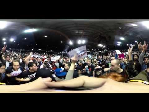 360 video of cancelled Trump rally in Chicago