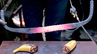 Turning Rebar Into A Pizza Knife!