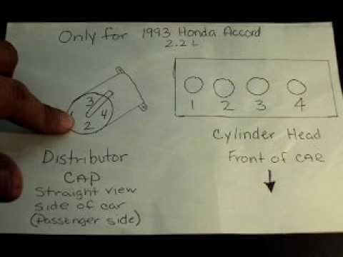 Honda Distributor Wiring Diagram 1993 Honda Accord 2 2 L Firing Diagram Youtube