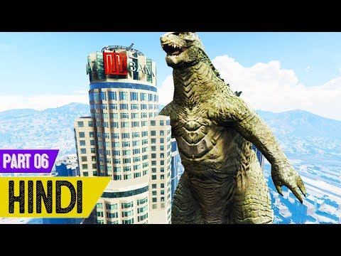 Godzilla Attack In GTA 5 - #Slender Man 2 #6
