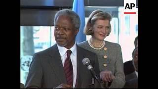 USA - Kofi Annan arrives back in New York