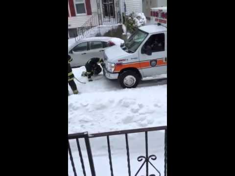 New Bedford Fire Department rescues ambulance