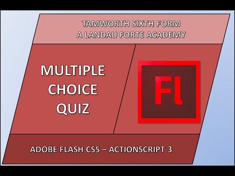 Flash Multiple Choice Quiz Tutorial