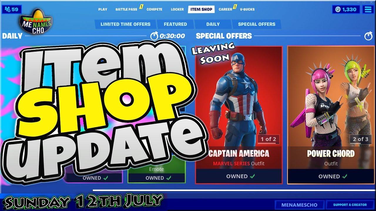 💥FORTNITE ITEM SHOP UPDATE 🔵 Countdown ⚡ LIVE - 12th July 2020 (Fortnite Battle Royale)