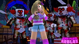 ROBLOX Little Leah Plays - EVIL CLOWNS IN MY NIGHTMARE - ESCAPE THE EVIL CIRCUS OBBY!!