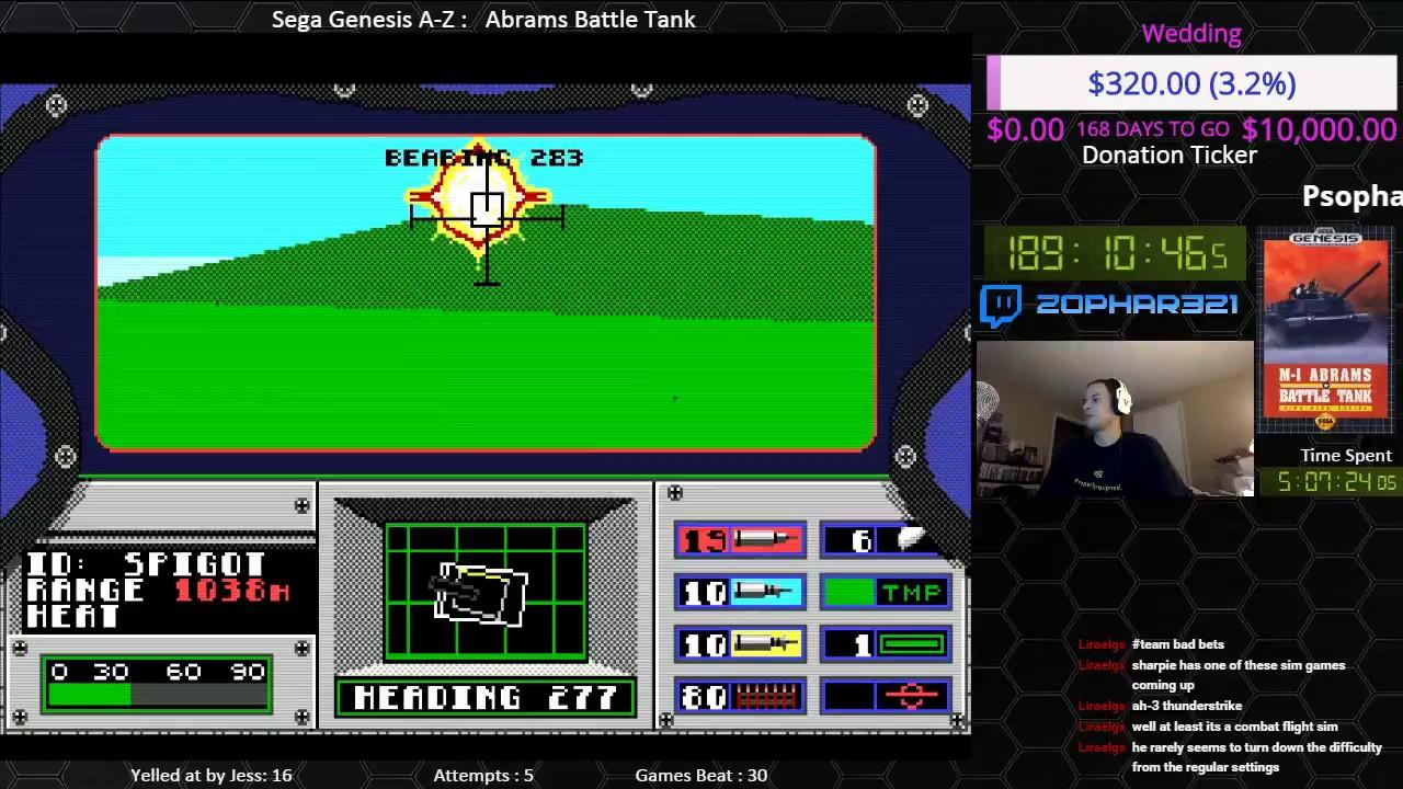 Sega Genesis A Z Abrams Battle Tank Journey To Beat
