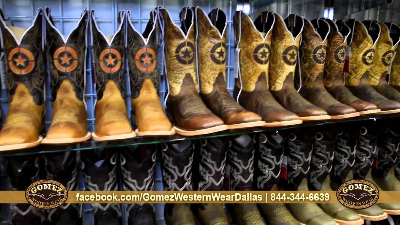 9a15c16e30 Gomez Western Wear Dallas - botas para dama y caballero - YouTube